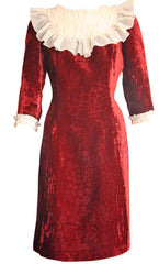 Shop this burgundy velvet dress from SoLovesVintage