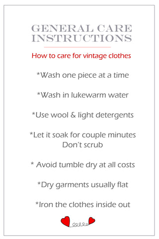 Washing instructions: How to care for vintage clothes