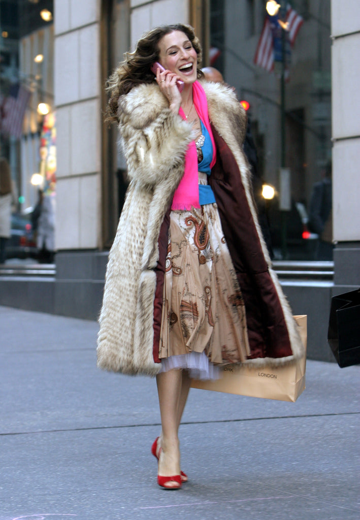 Carrie Bradshaw winter vintage outfits