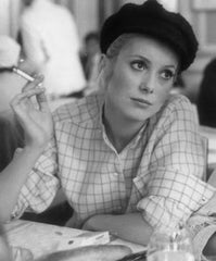 Catherine Deneuve in a french nautical hat