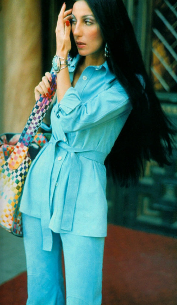 Cher wearing a vintage 70's suit