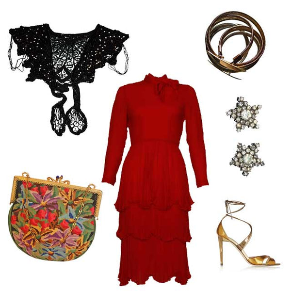 How to wear red vintage pieces from SoLovesVintage