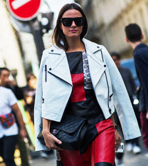 How to wear a white leather jacket