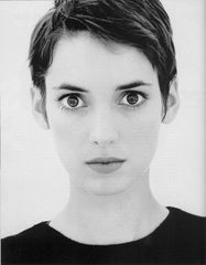 Winona Ryder is her short hairstyle