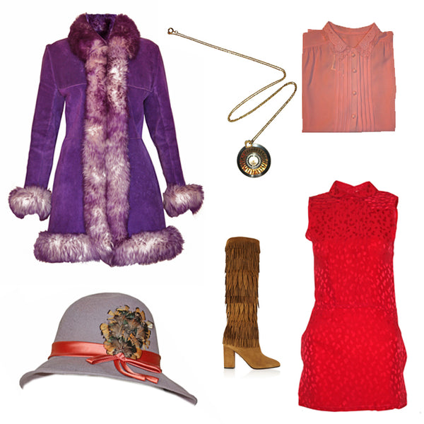 How to wear vintage red pieces from SoLovesVintage