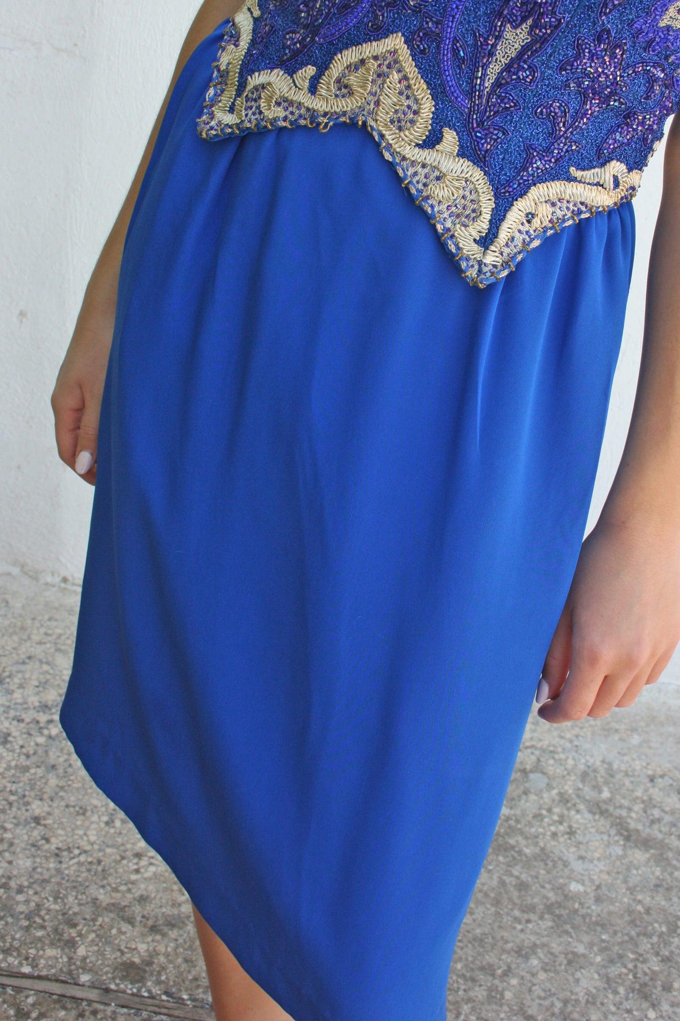 80s vintage royal blue cocktail dress - Shop SoLovesVintage