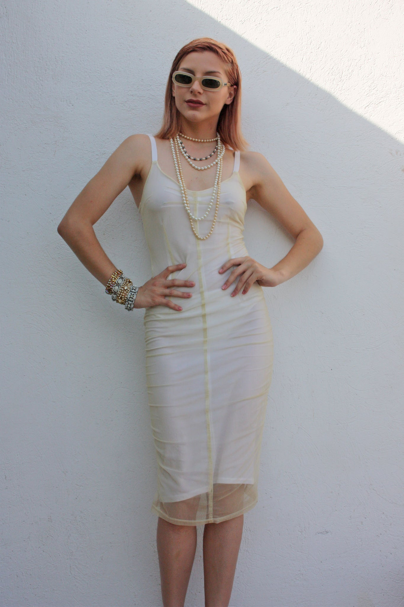 90s vintage white dress - Shop SoLovesVintage