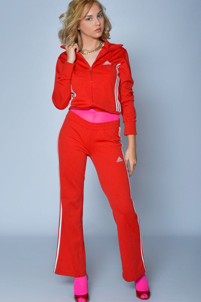 Vintage red Adidas womens tracksuit set - SoLovesVintage