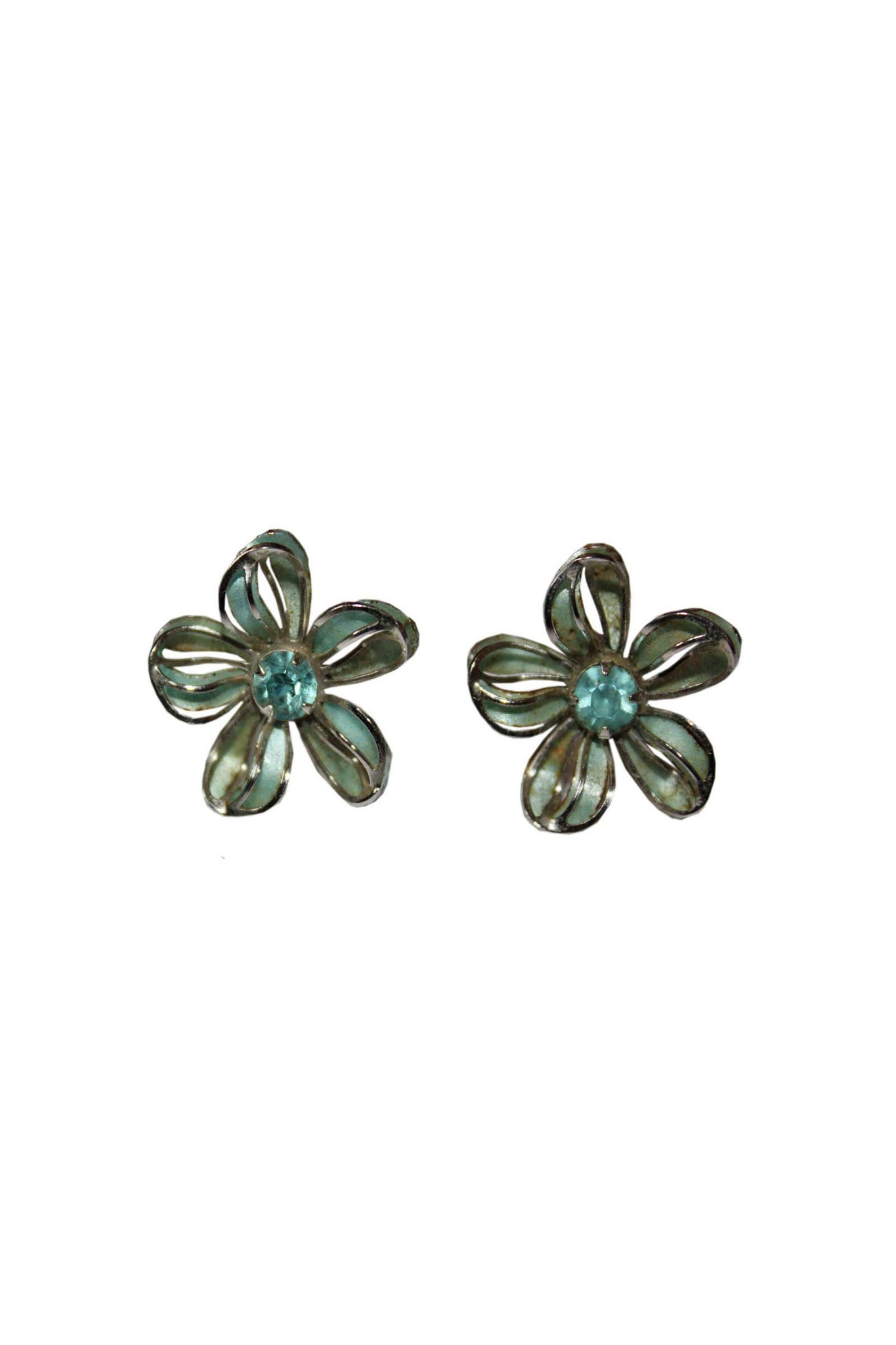 Vintage floral earrings - SoLovesVintage