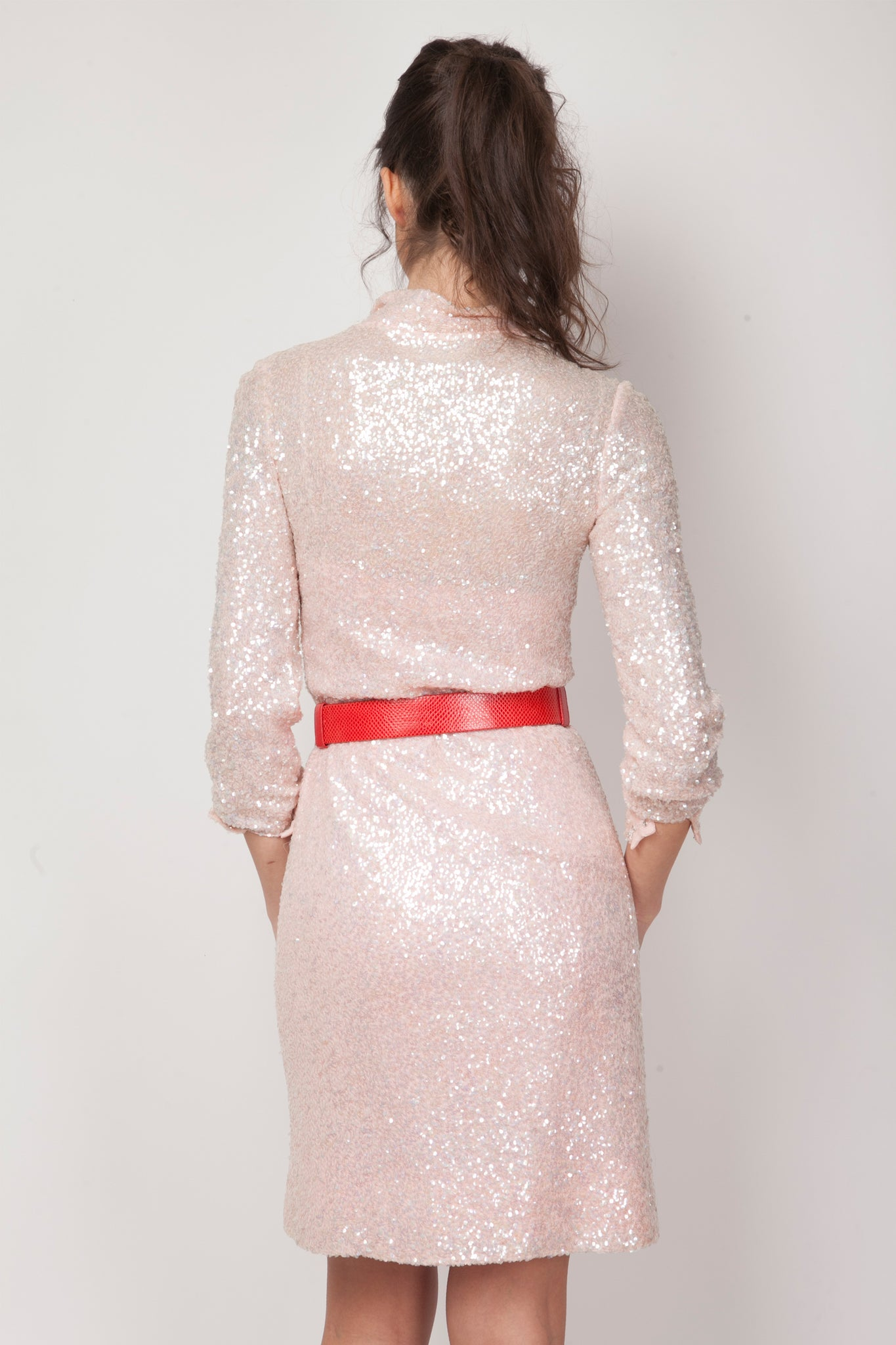 Vintage Audelie sequin dress