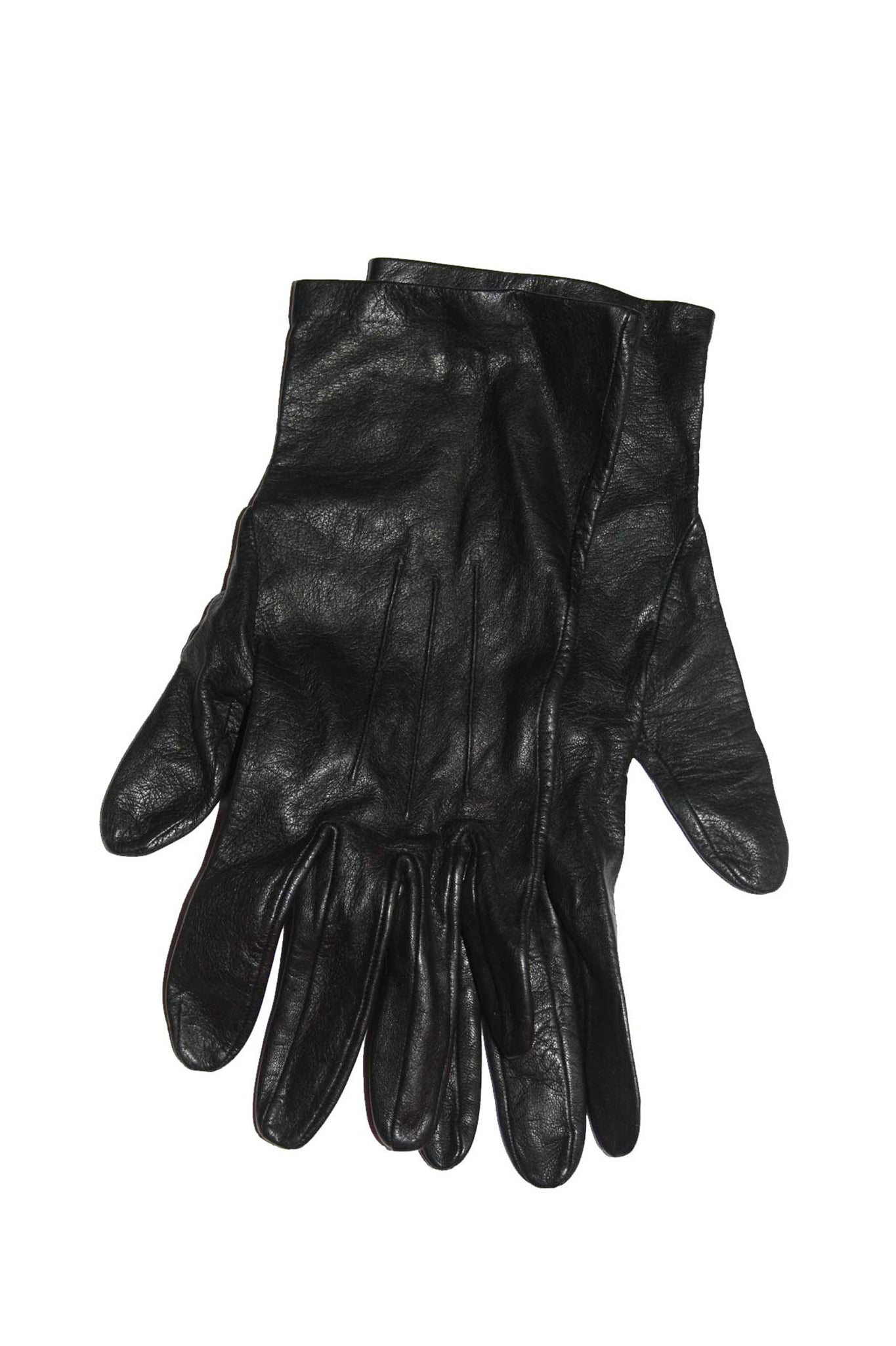 Black vintage leather gloves - SoLovesVintage