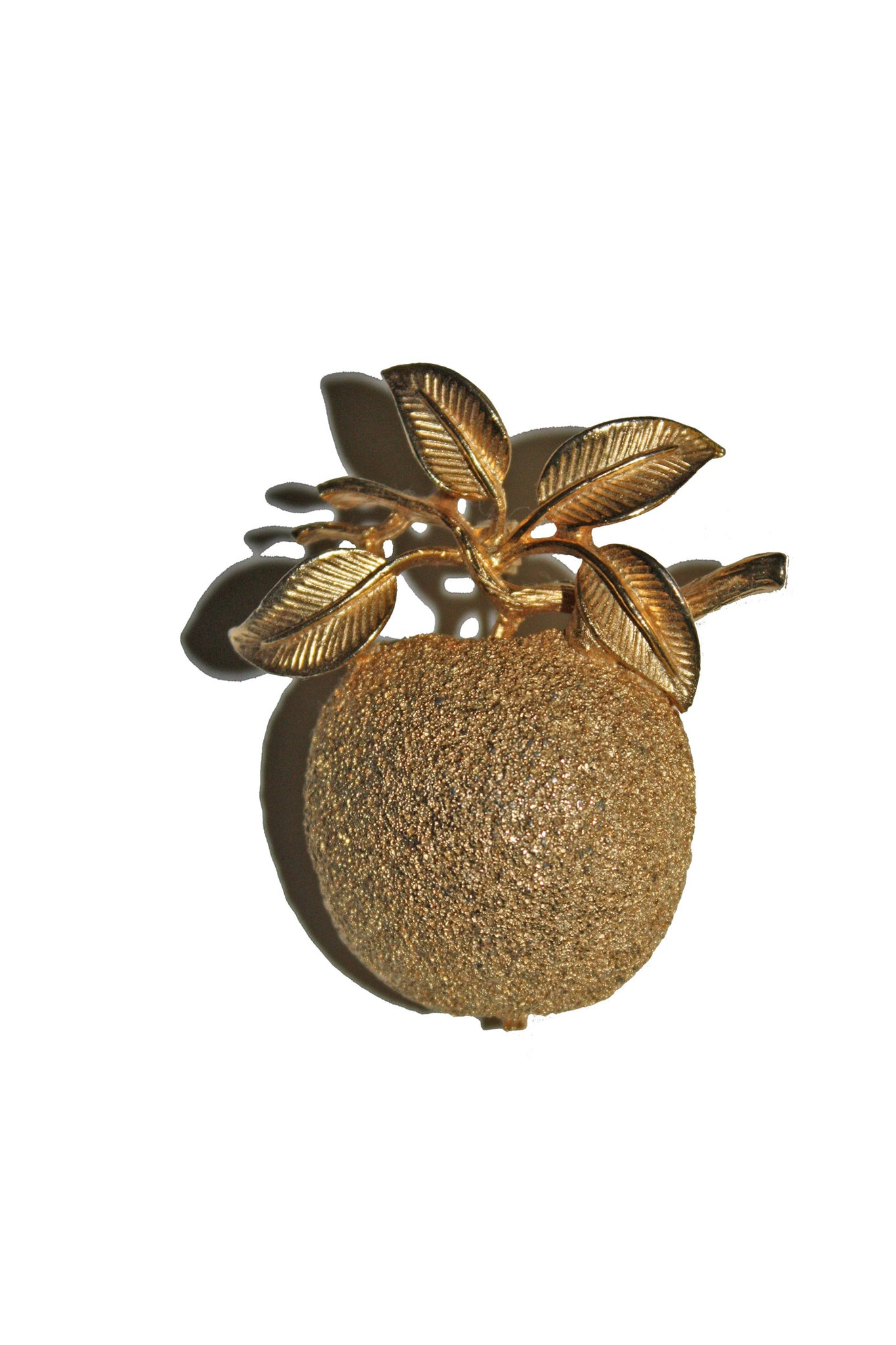Vintage gold plated cherry brooch