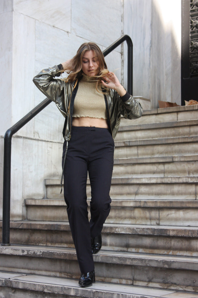 Vintage black trousers - SoLovesVintage