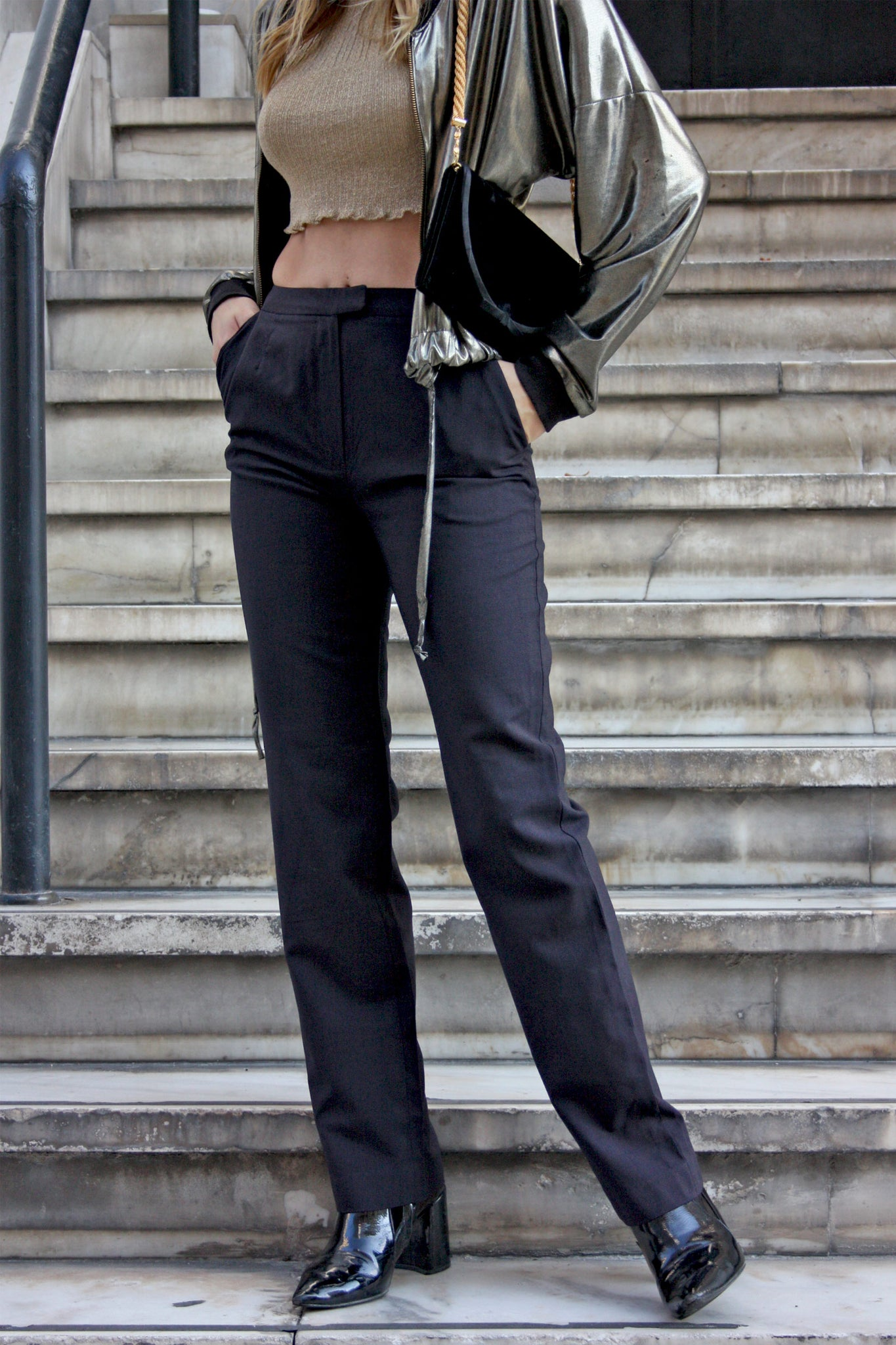 Vintage Dahlia black trousers