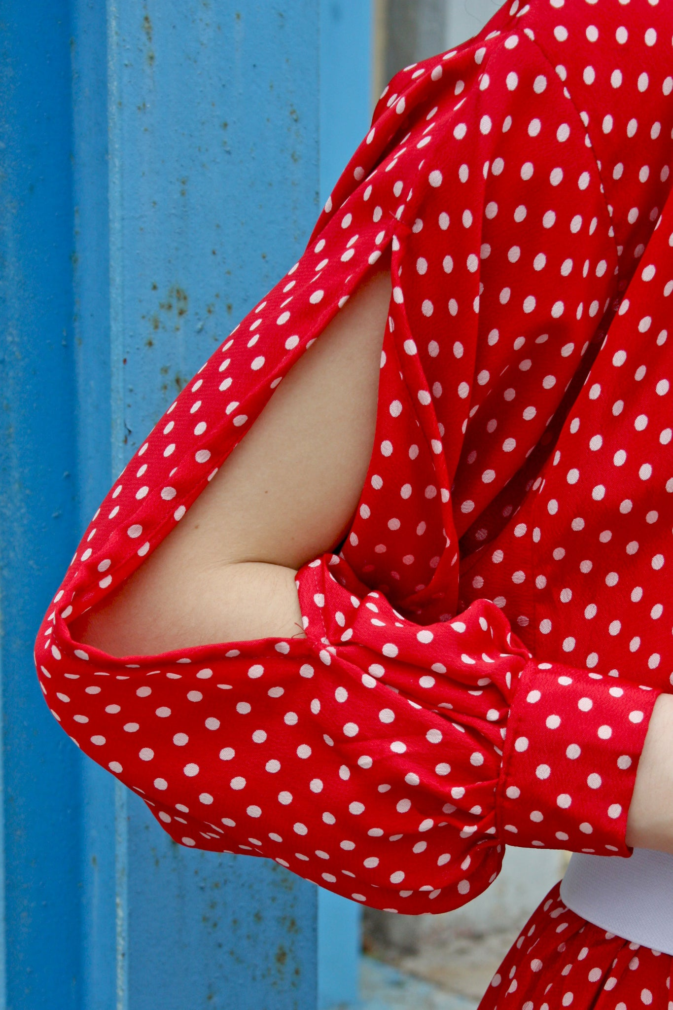 Vintage Dolores polka dot dress