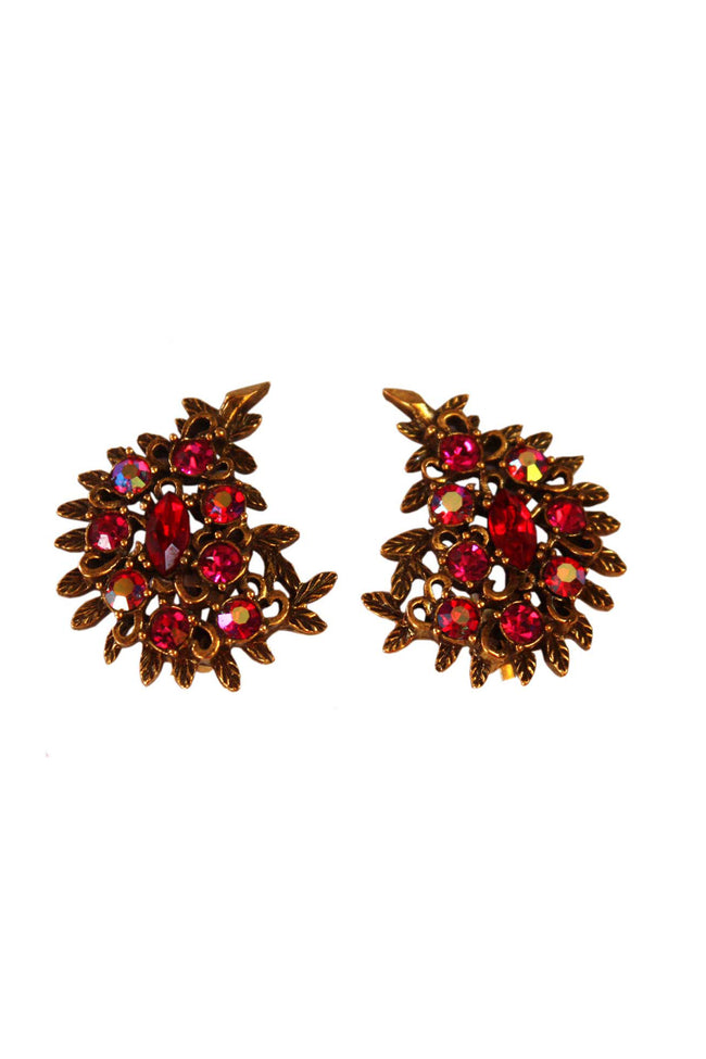 Vintage Emmons clip on earrings - SoLovesVintage