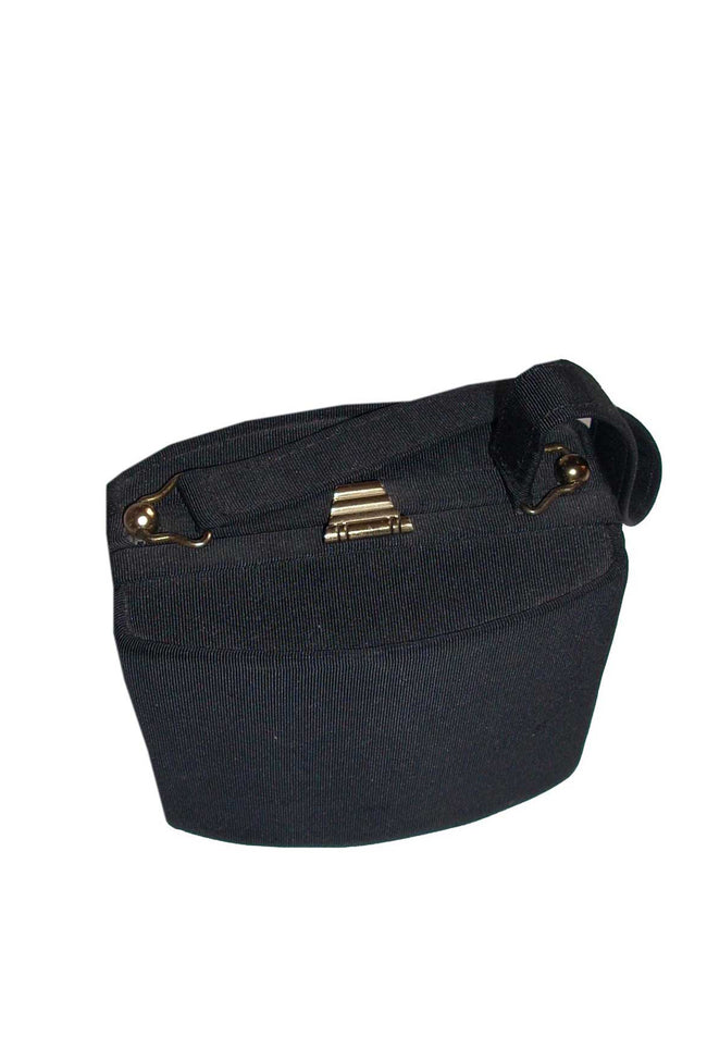 40's vintage black box handbag - SoLovesvintage