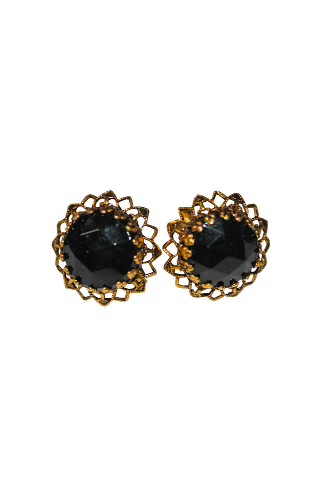 50's clip one earrings - SoLovesVintage