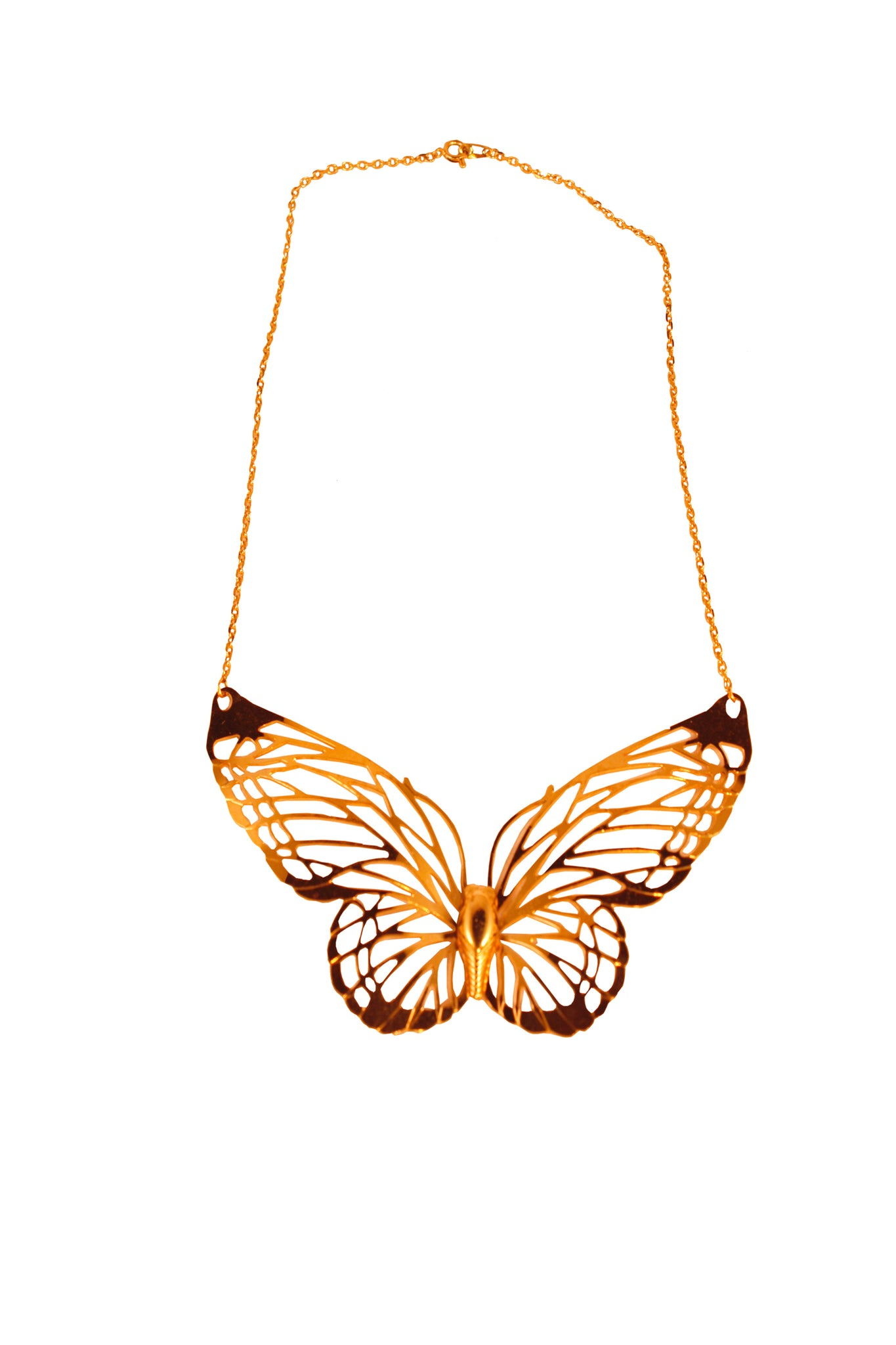 Vintage 40's butterfly necklace by Trifari - SoLovesVintage