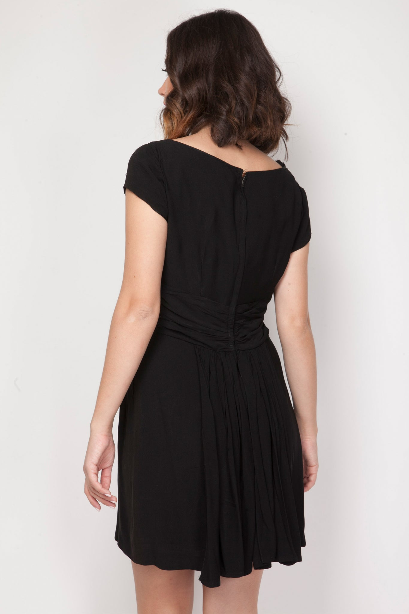 40's vintage black dress - SoLovesVintage