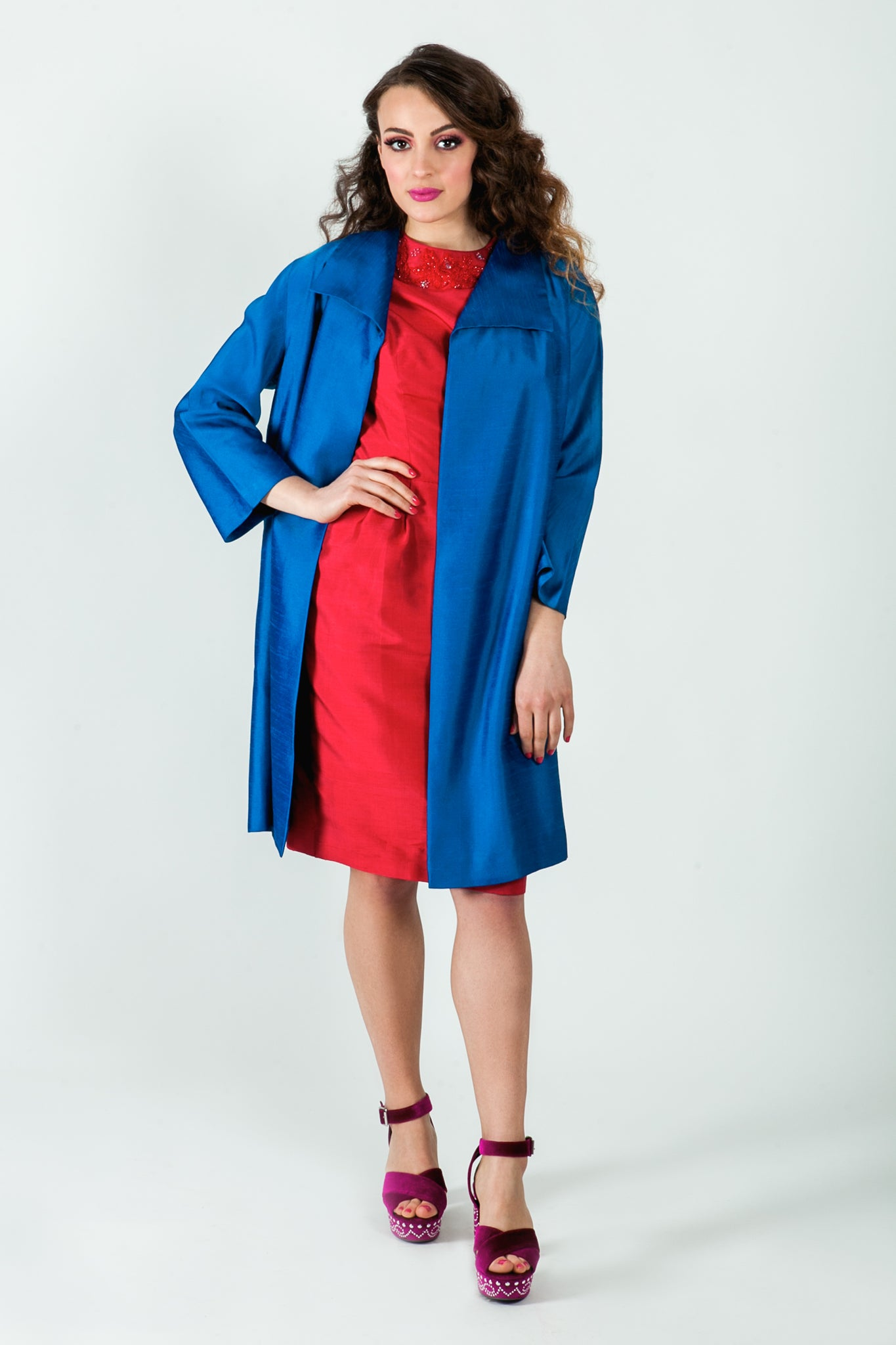 Megan silk coat