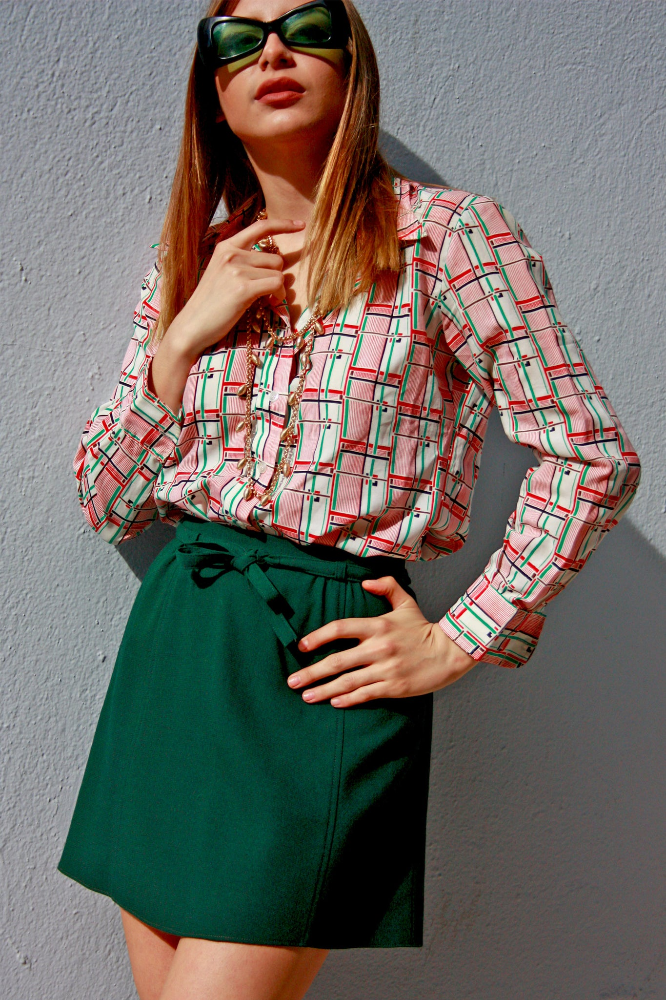 60's green vintage mini skirt - SoLovesVintage