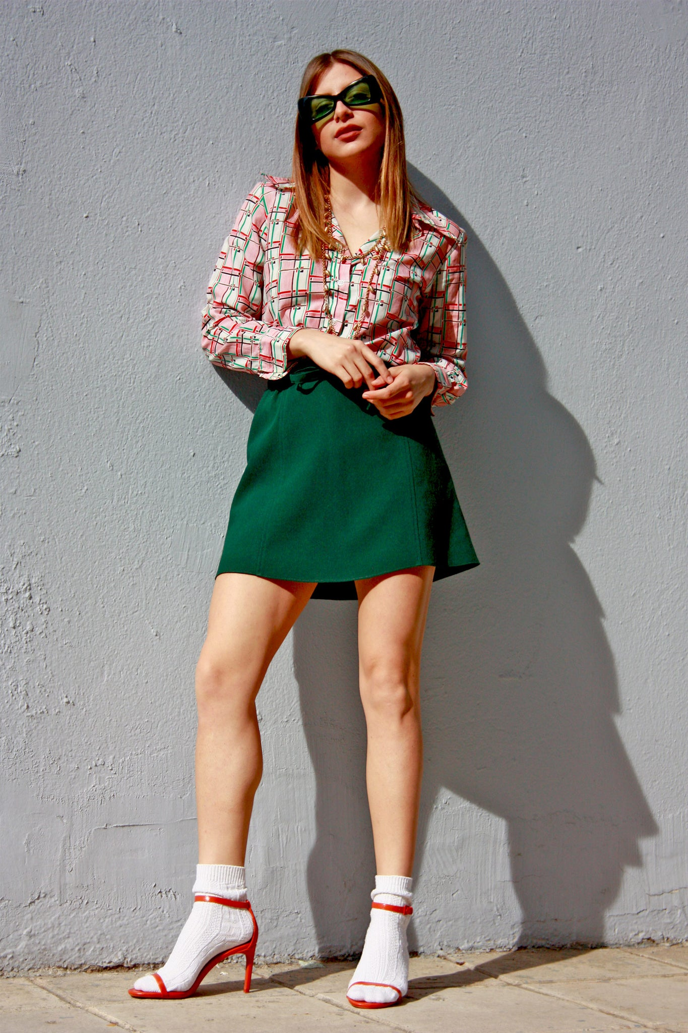 Vintage green mini skirt - SoLovesVintage