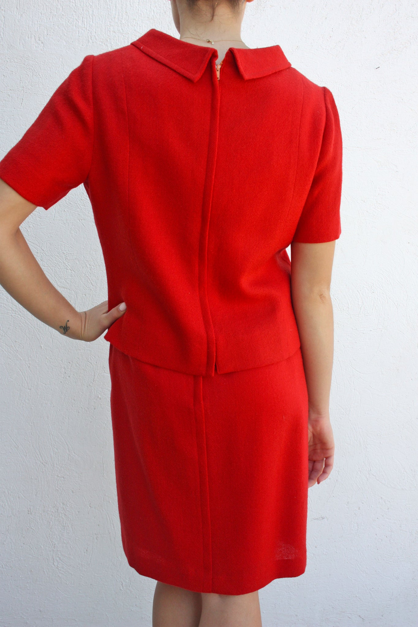 Vintage red wool suit - Shop SoLovesVintage