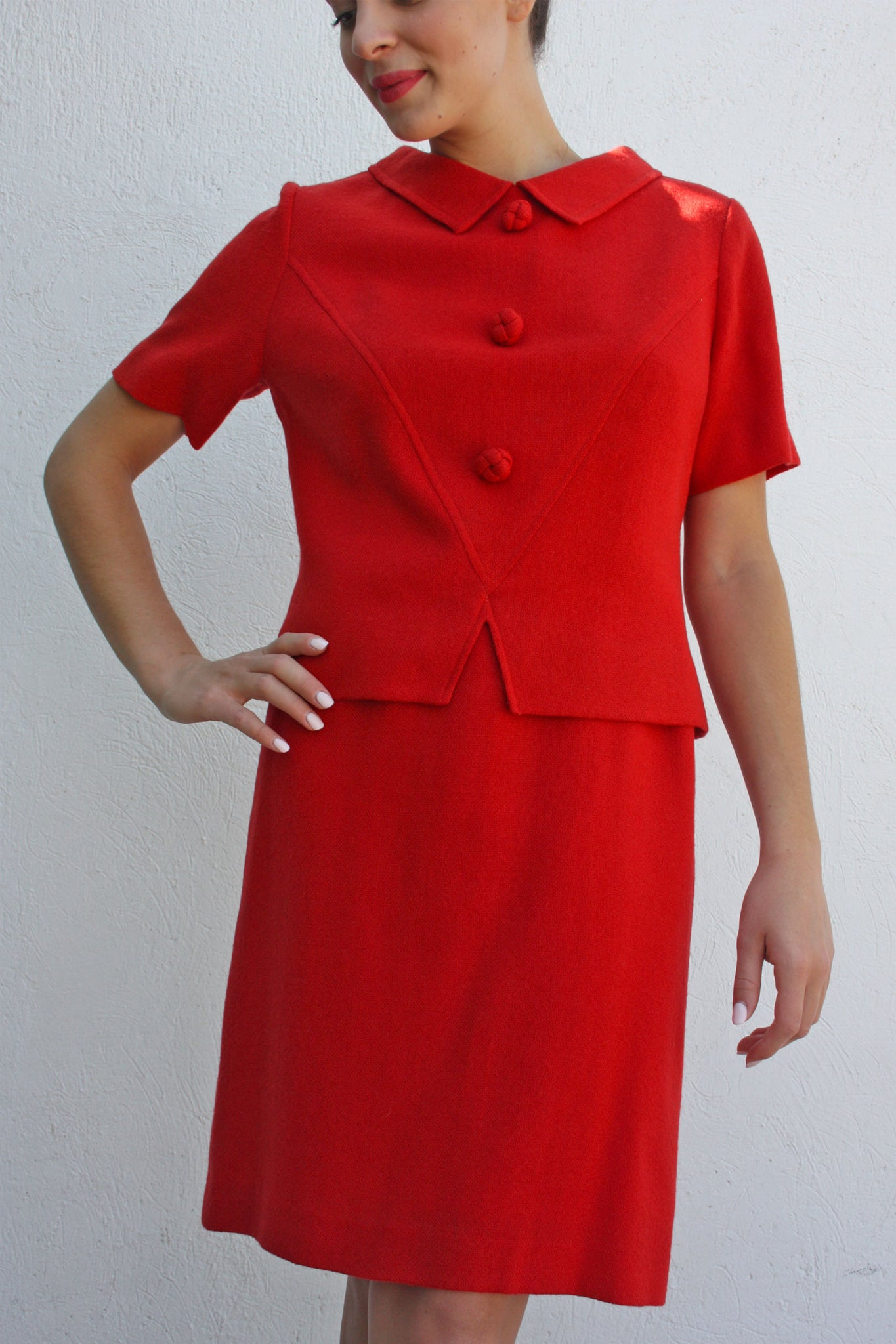 Vintage wool red suit - Shop SoLovesVintage