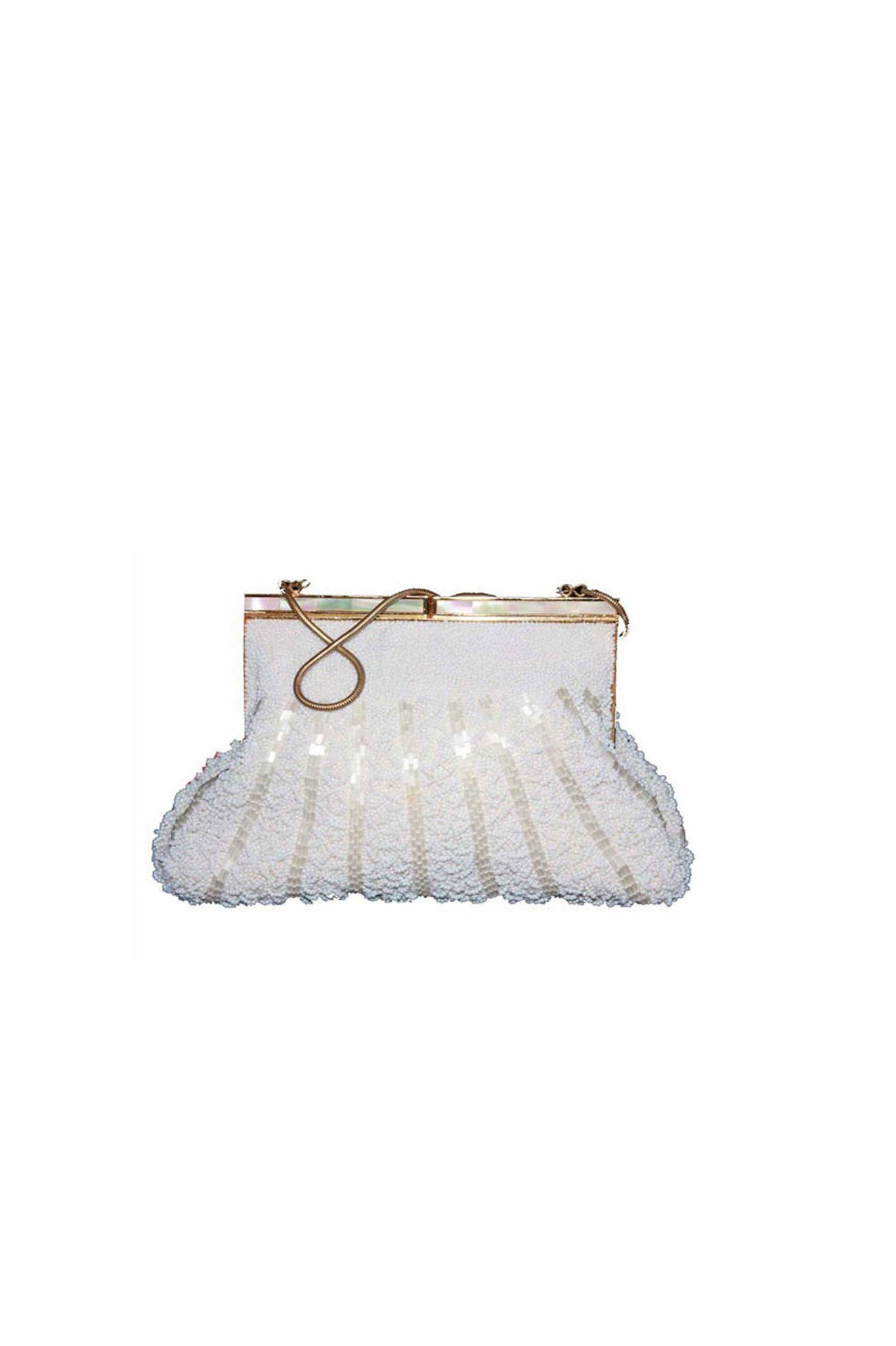 Vintage beaded wedding bag - SoLovesVintage