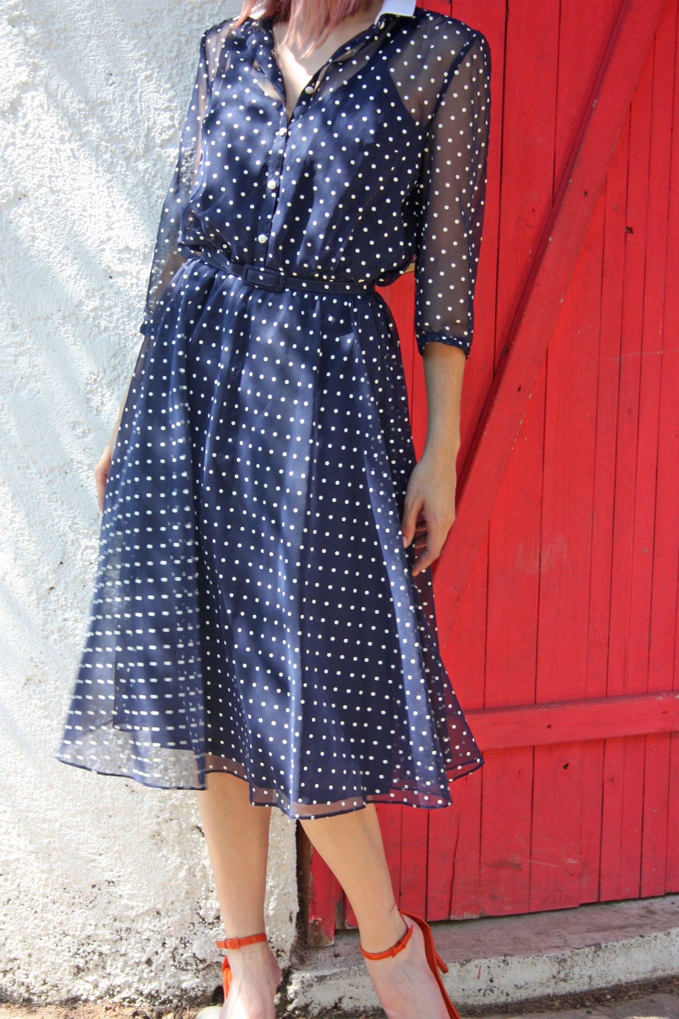 Retro vintage polka dot dress - Shop SoLovesVintage