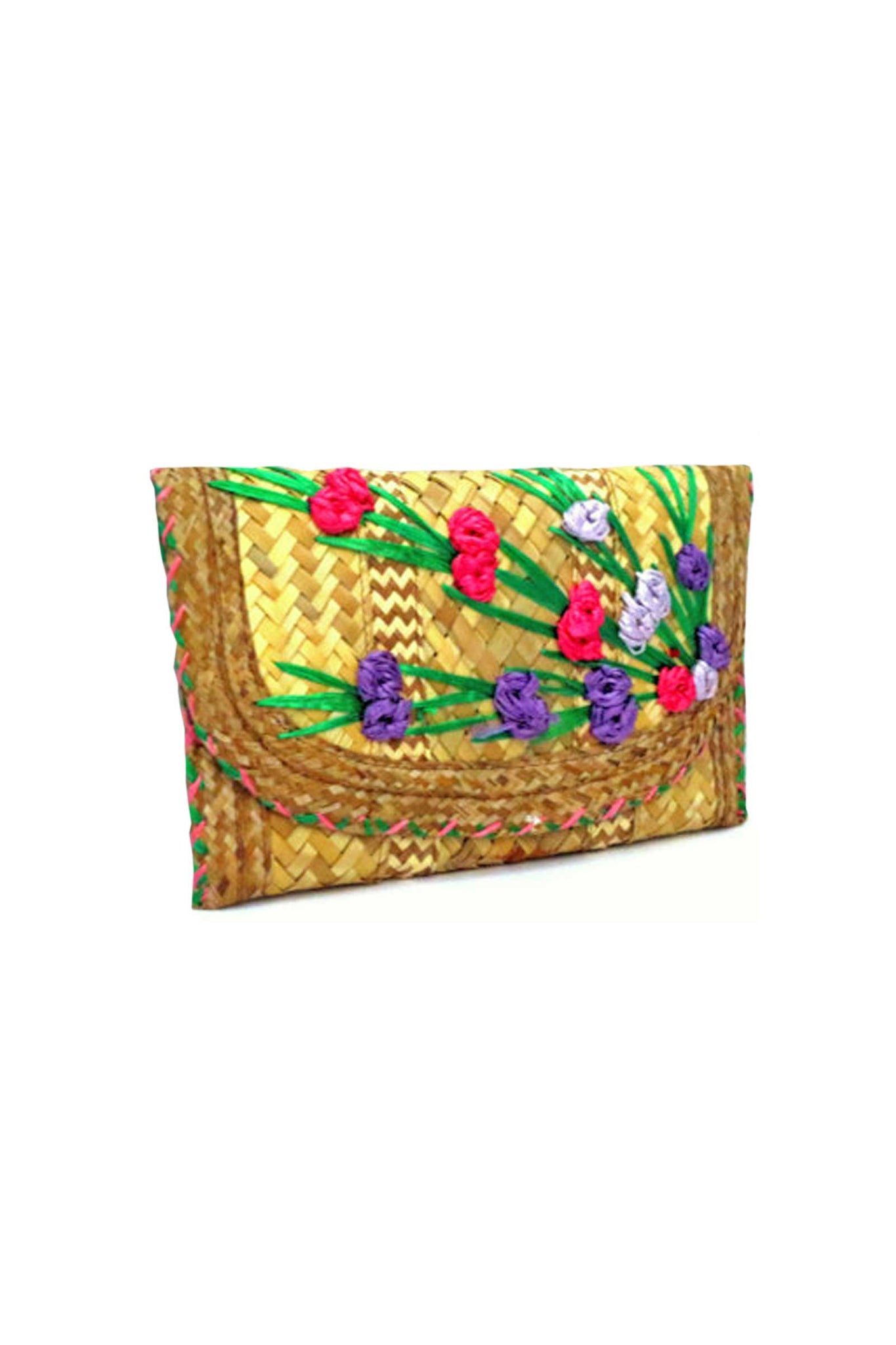 Vintage Kika straw clutch bag