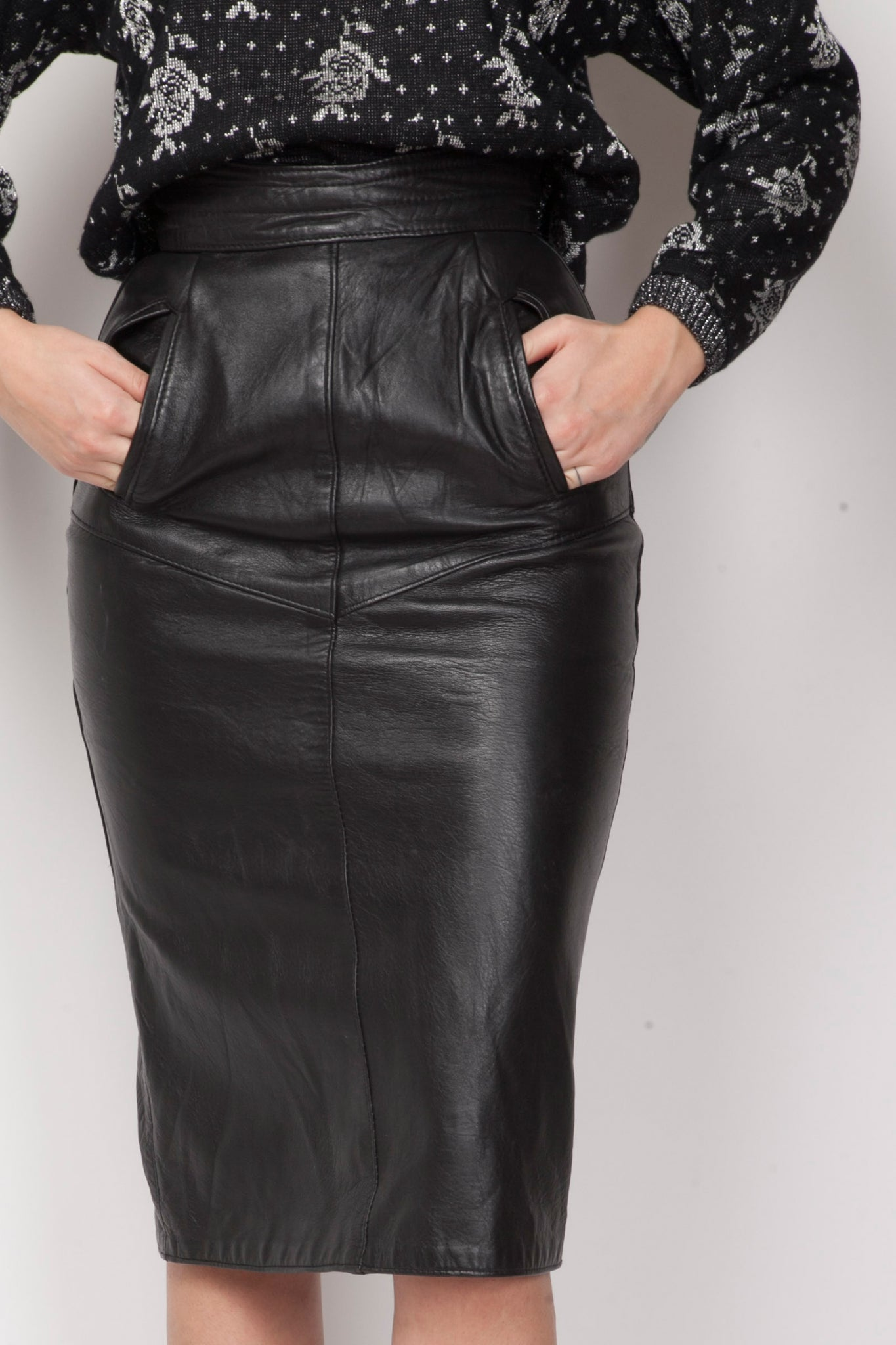 Kristy leather skirt