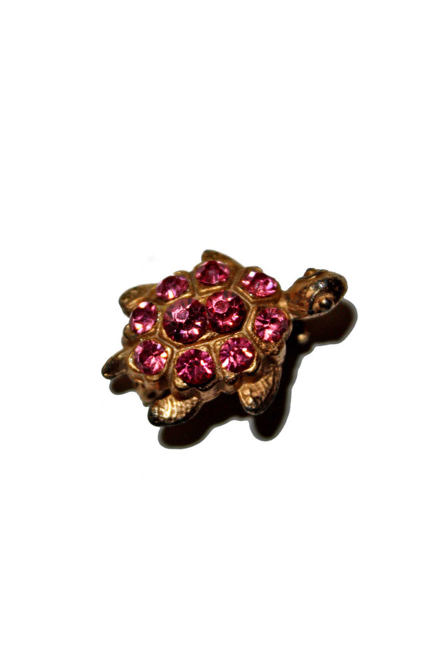 Vintage 50's turtle shaped brooch - SoLovesVintage