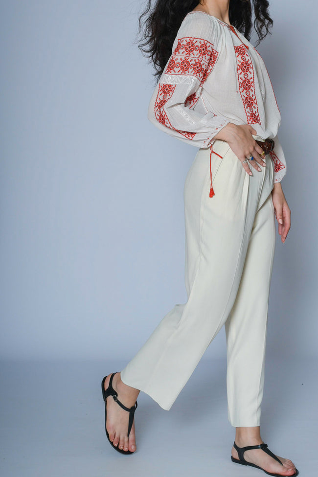 Marcella crepe trousers