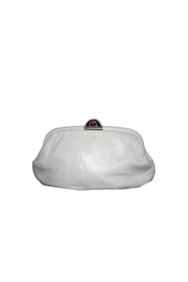Vintage ice white clutch bag - SoLovesVintage