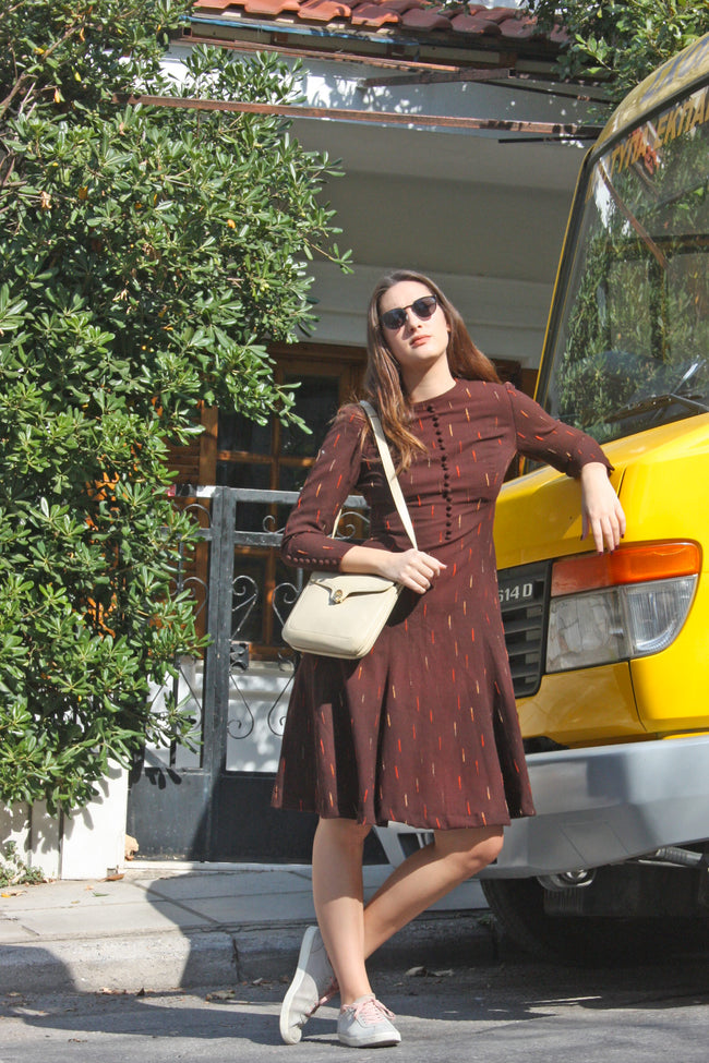 Vintage wool 70's dress - SoLovesVintage