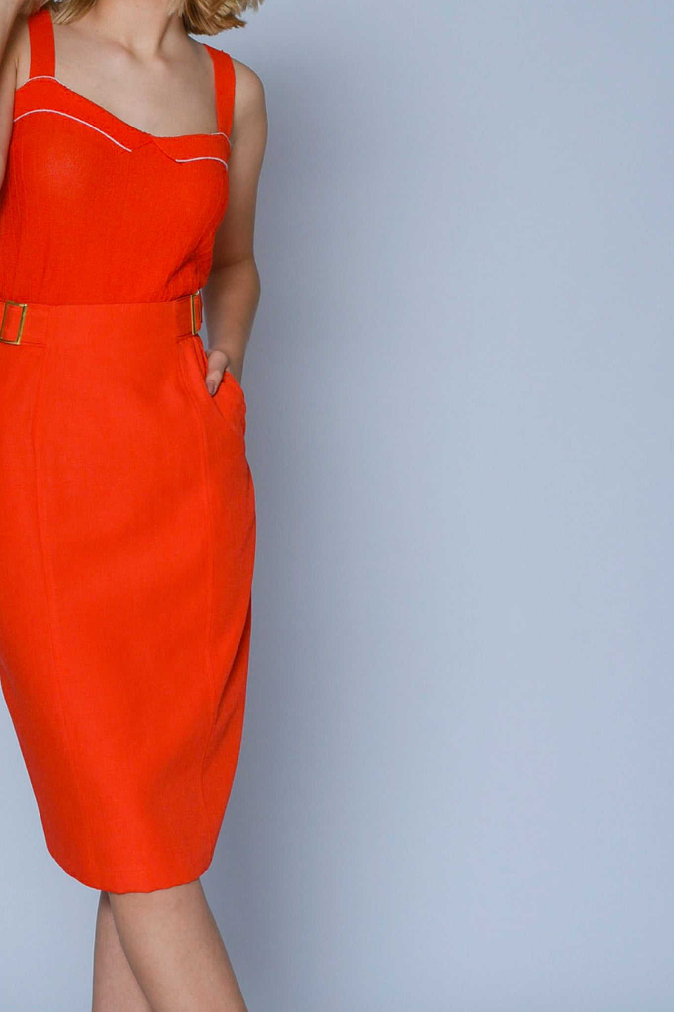 Vintage orange pencil skirt - SoLovesVintage