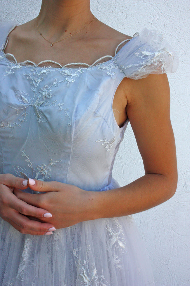 Vintage 1950's baby blue prom dress - Shop SoLovesVintage