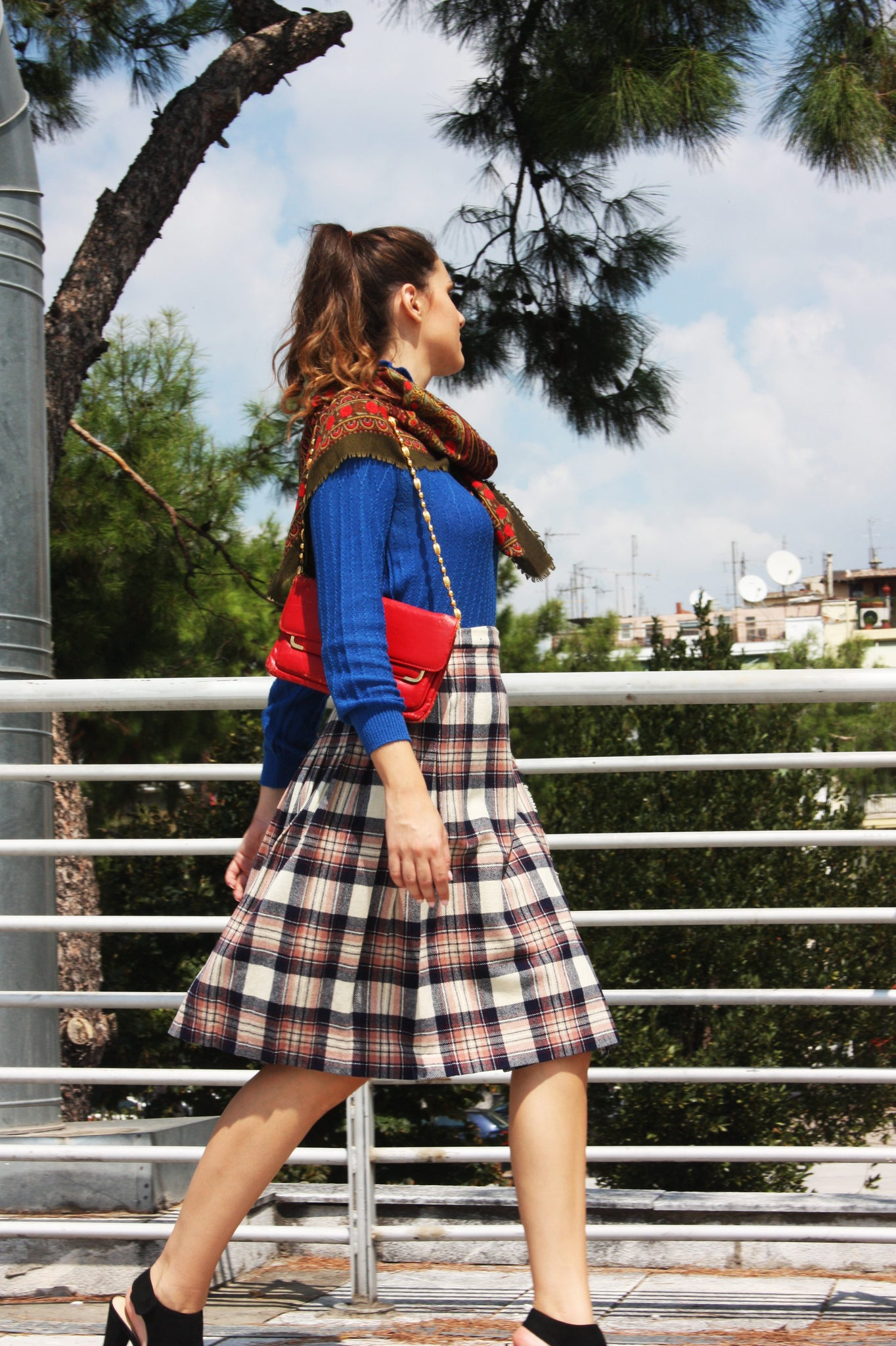 Vintage wool Scottish kilt skirt - SoLovesVintage
