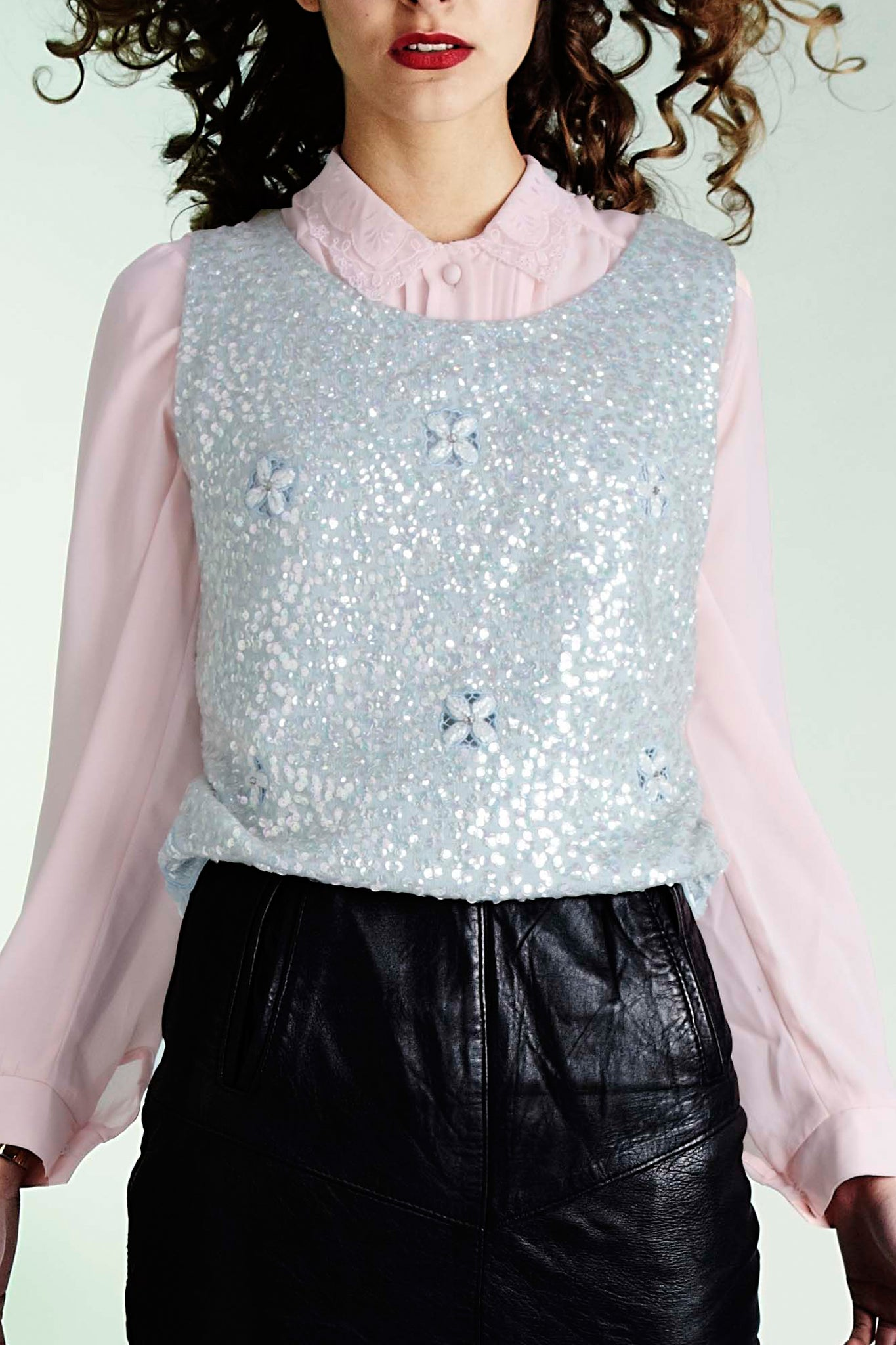 Shelley sequin top