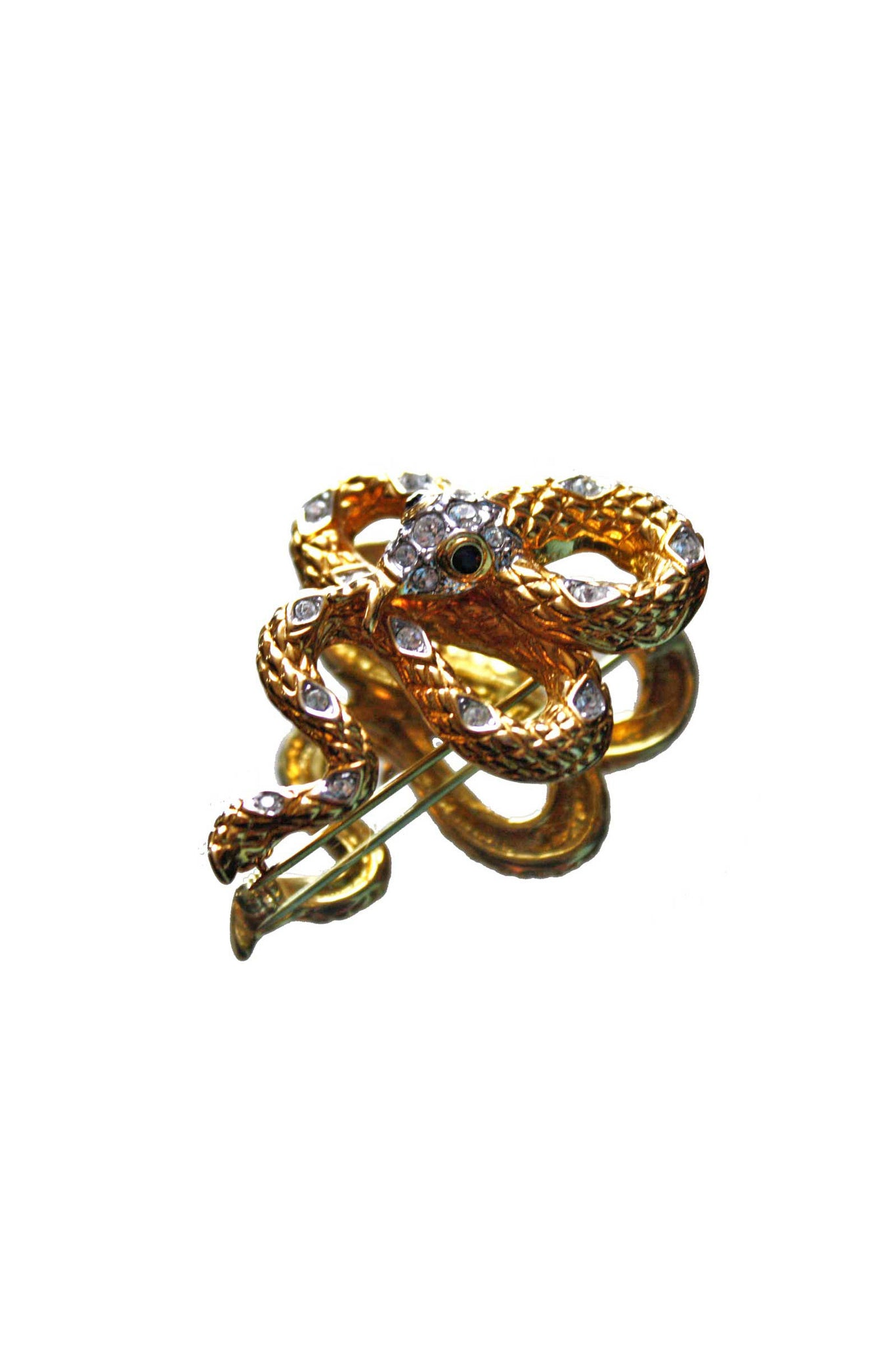 Vintage snake shaped brooch - SoLovesVintage