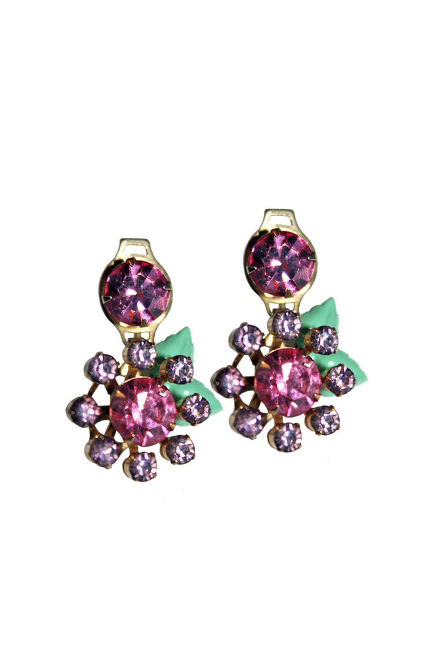 Vintage floral shaped earrings - SoLovesVintage