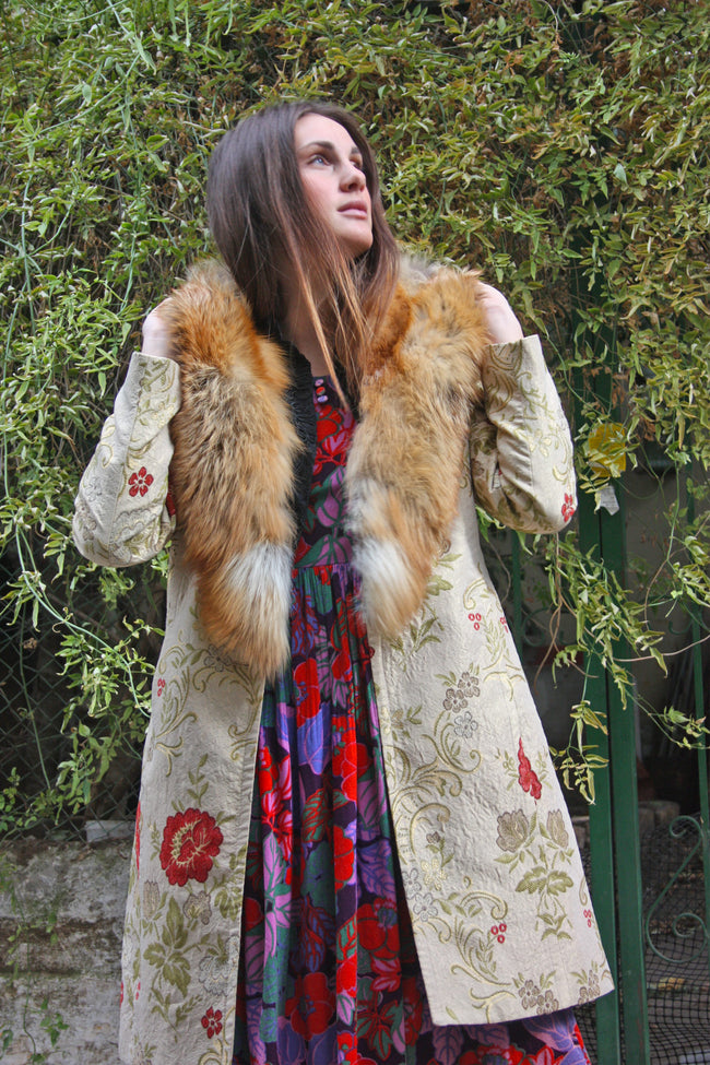 Vintage tapestry fur coat - SoLovesVintage