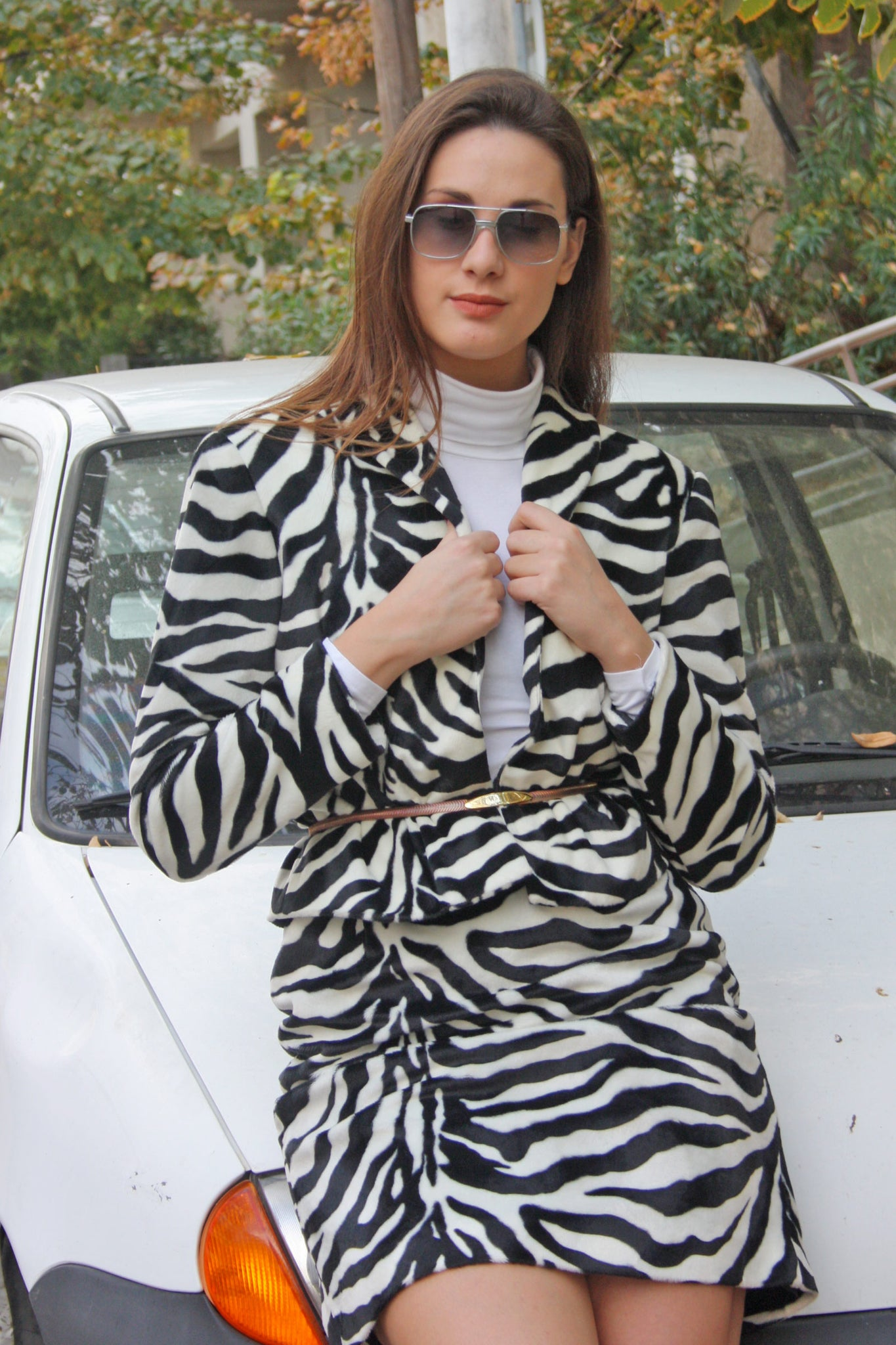 Veronique zebra suit