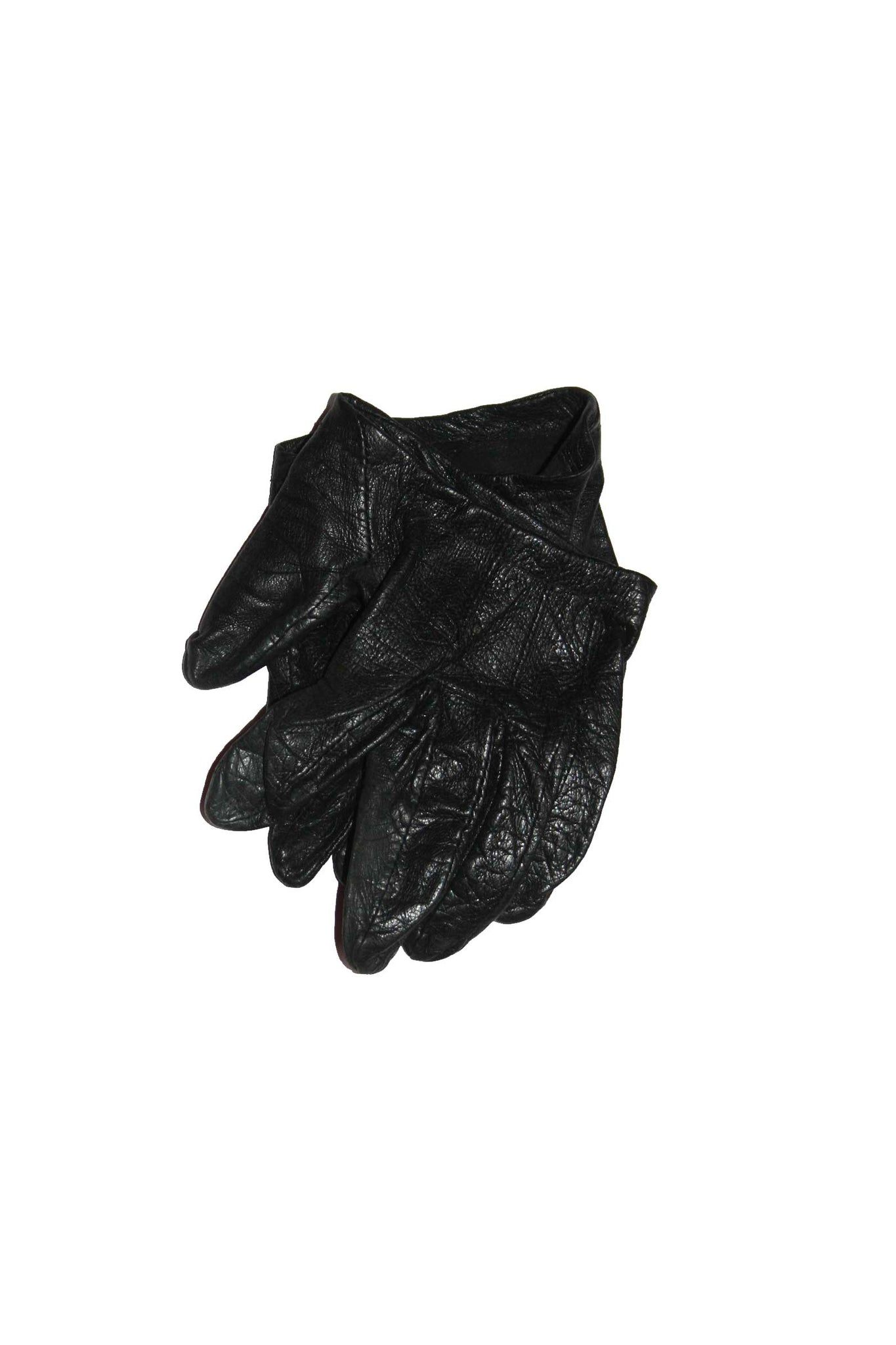 Vintage leather black gloves - SoLovesVintage