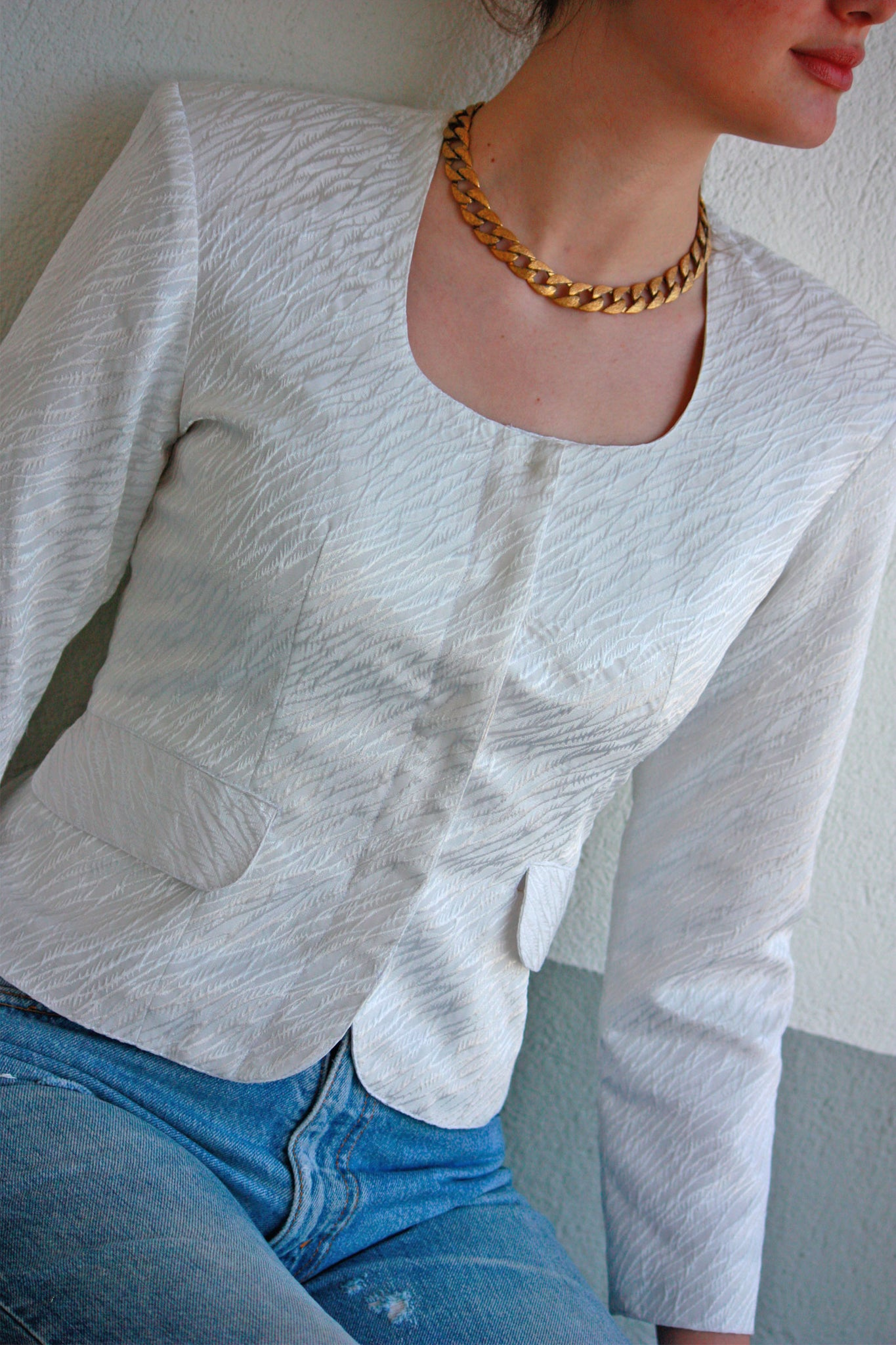 Vintage white jacket - SoLovesVintage
