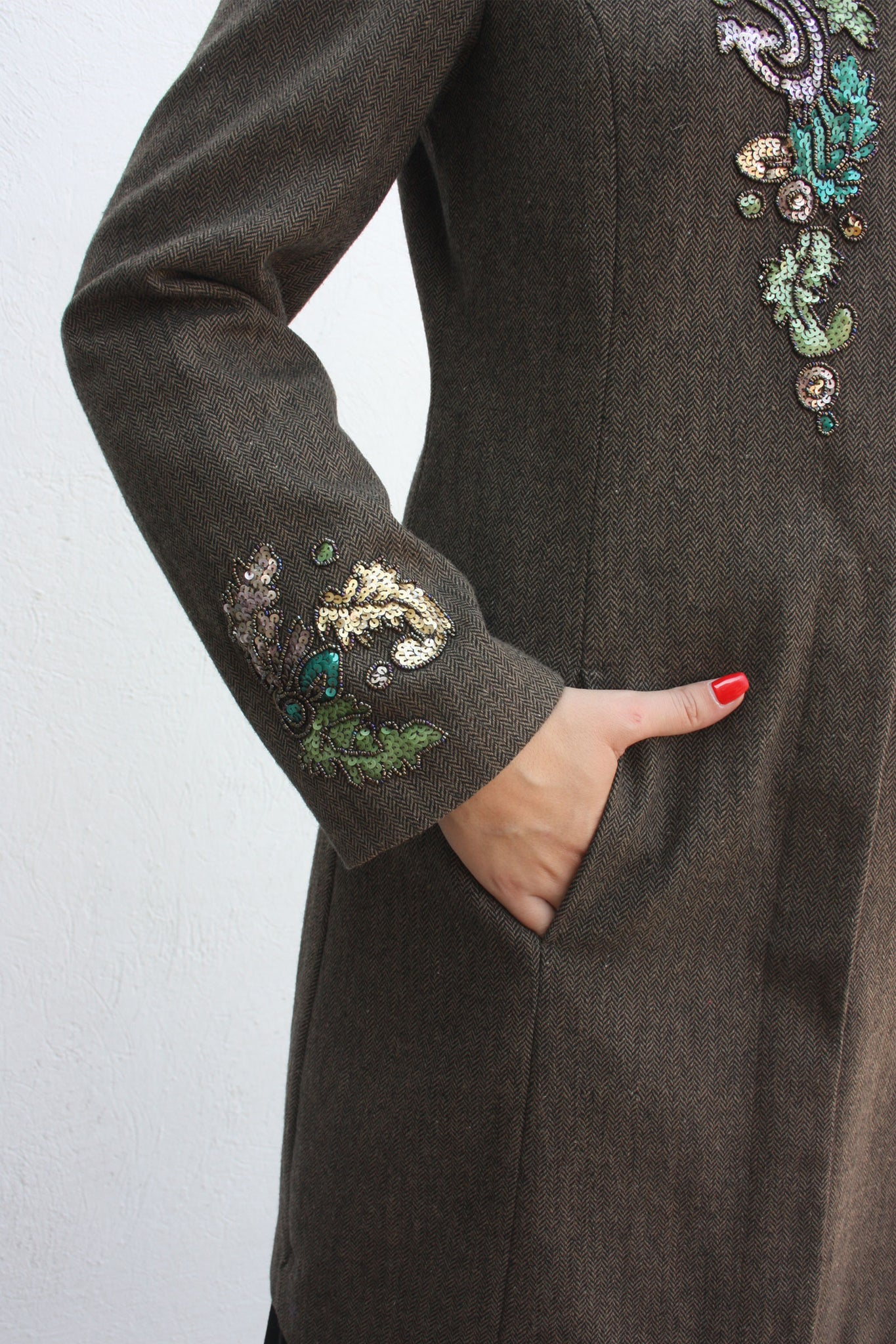 Wool vintage beaded coat - Shop SoLovesVintage