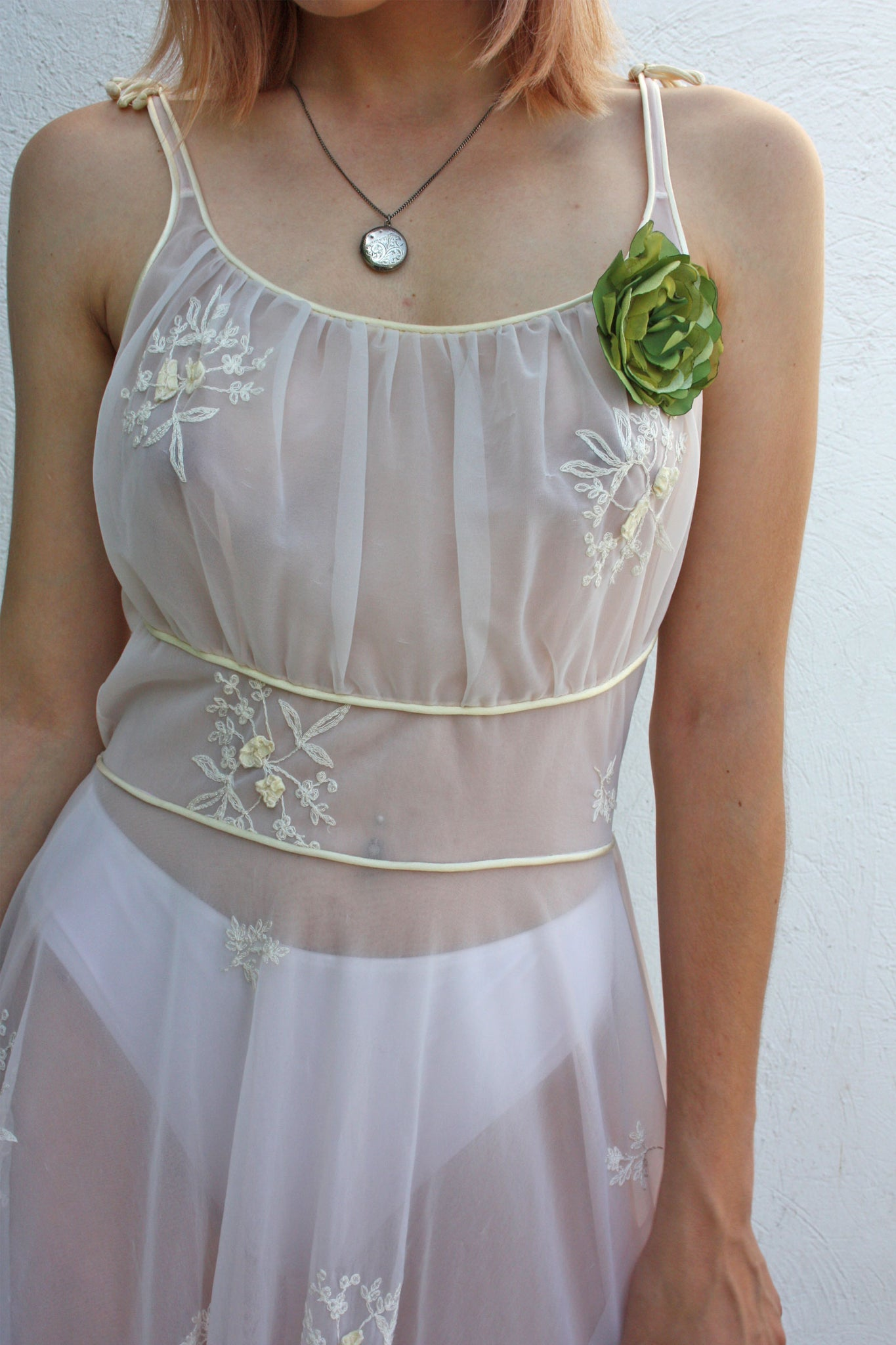 40's lingerie white vintage dress - Shop SoLovesVintage
