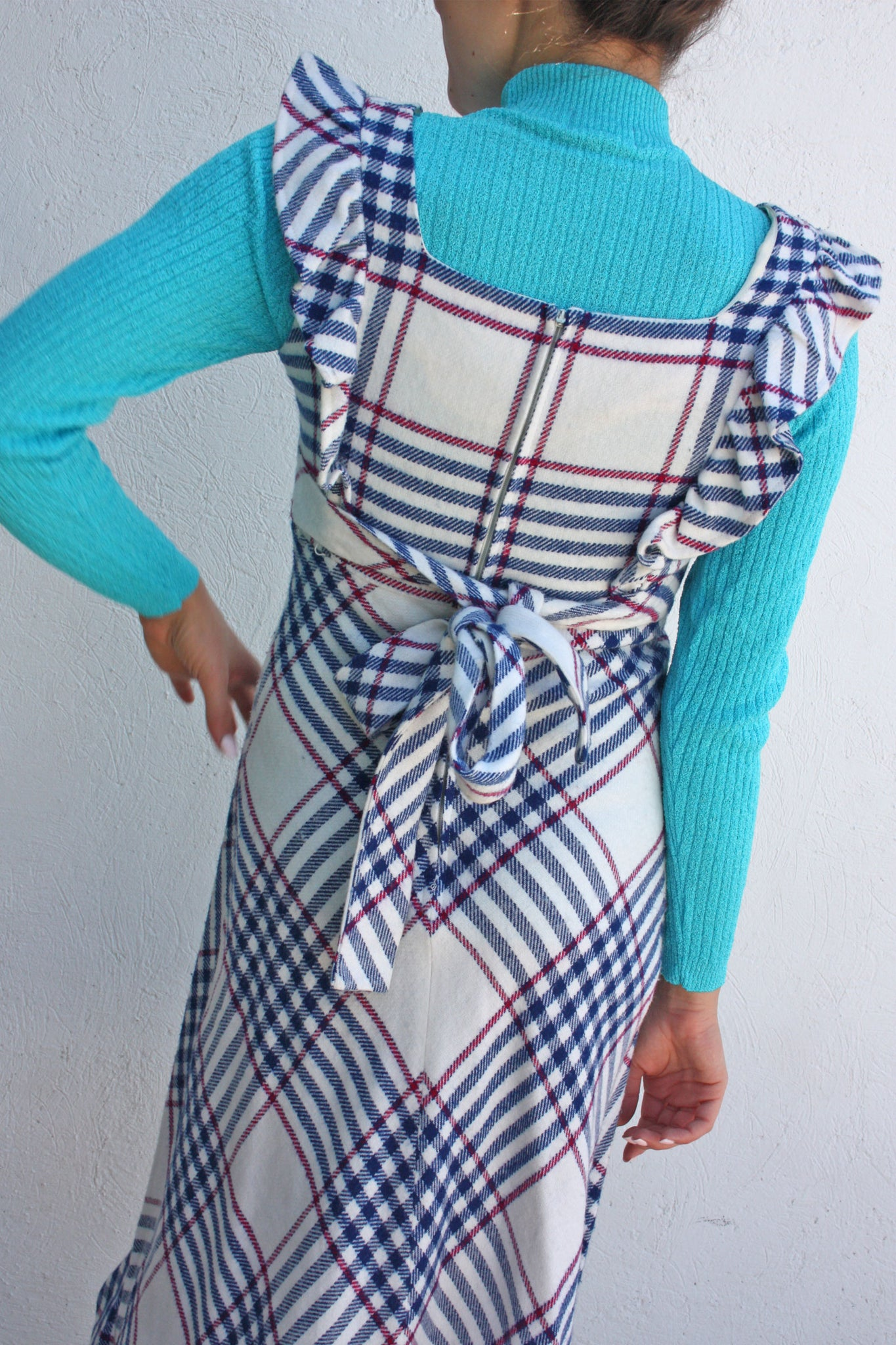 70's pinafore wool dress - Shop SoLovesVintage